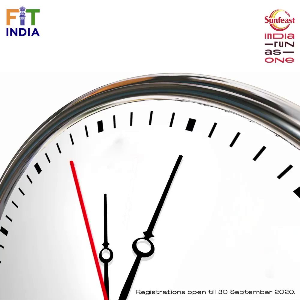 Just a few hours left to make your mark and contribute towards millions of lost livelihoods.   Hurry up and register for #SunfeastIndiaRunAsOne Now and support the nation.   Link: .  #LivelihoodsMatter