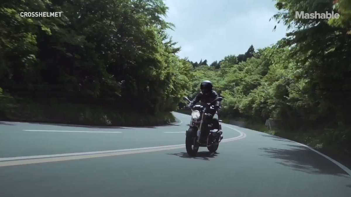 Image for the Tweet beginning: This #AR #motorcycle #helmet is