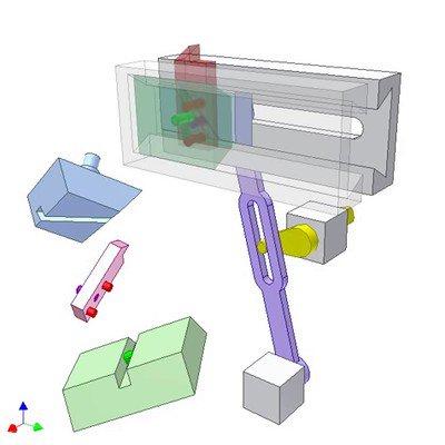 Three Slider Mechanism