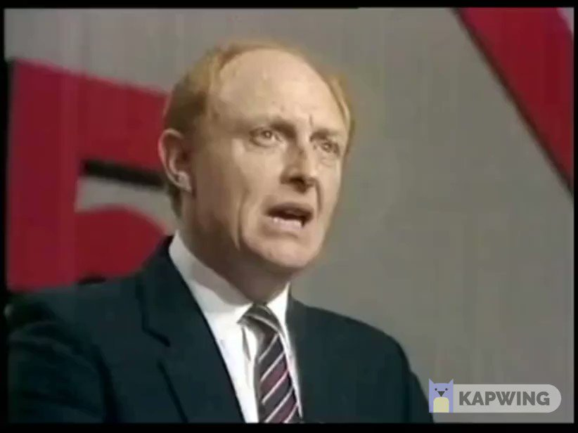 A very special moment in Labour's history.  Neil Kinnock's raw courage.  The point at which Labour drew back from self destruction and began its long road back.  Much more had to be done but no one should doubt the importance of this speech at this time. https://t.co/V0pNW5n8I8