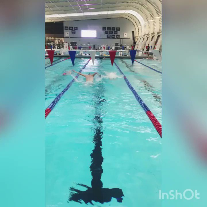 Swimming physics behind Newton's Laws