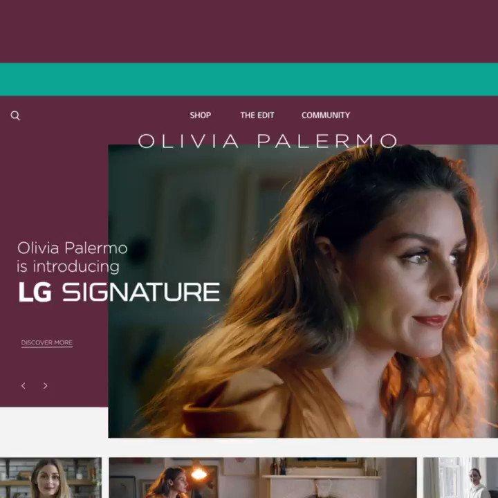 Introducing my new partnership with @LG_SIGNATURE! #LGSIGNATURE #LGSIGNATURExOlivia https://t.co/4bWSOSNtvB