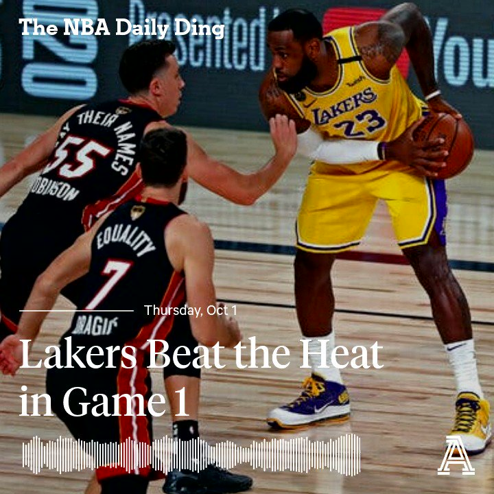 🆕 Daily Ding with @talkhoops, @DaveDuFourNBA and @MoDakhil_NBA 🏀 LeBron and AD crush the Heat 🏀 Hobbled Heat 🏀 Do the Heat have a chance in the series? 🏀 Can the Lakers shooting stay hot? Apple: podcasts.apple.com/us/podcast/lak… Spotify: open.spotify.com/episode/3pOzrN…