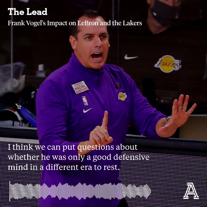 The Lakers handled the Heat in Game 1, and one of the keys to LAs success has been Frank Vogel. Today on The Lead, @anthonyVslater on why the low-key coach is perfect for LA, both for his great defensive mind and his relationship with LeBron. 🎧 Spotify: open.spotify.com/show/3y1VbeSon…