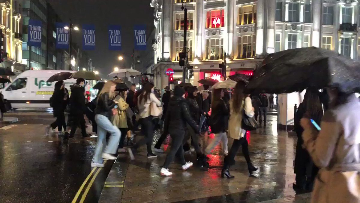 Image for the Tweet beginning: Oxford Circus last night at