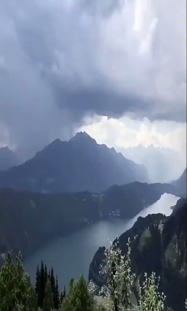 A rainfall event above the Millstätter See, Austria. (Video by Peter Maier.)