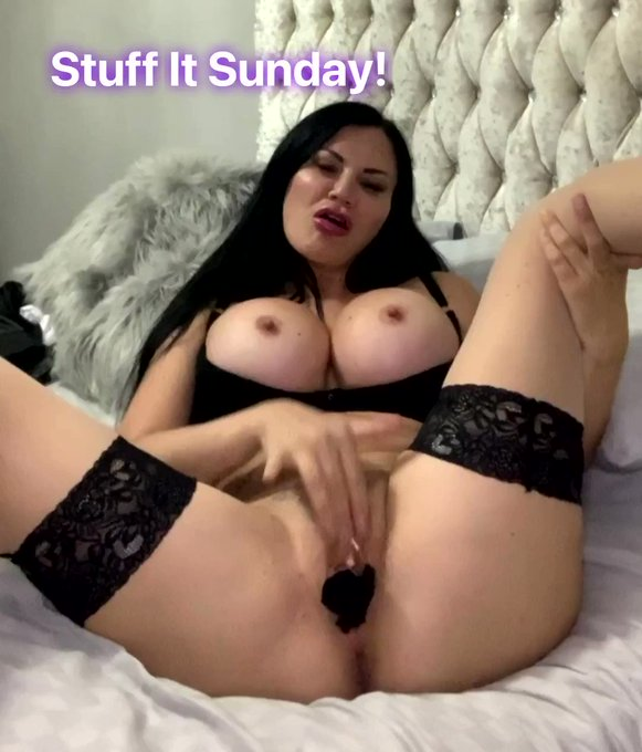 It's #stuffitsunday over on my #onlyfans 😈 The ONLY place you can buy my worn panties! Tonight only!
