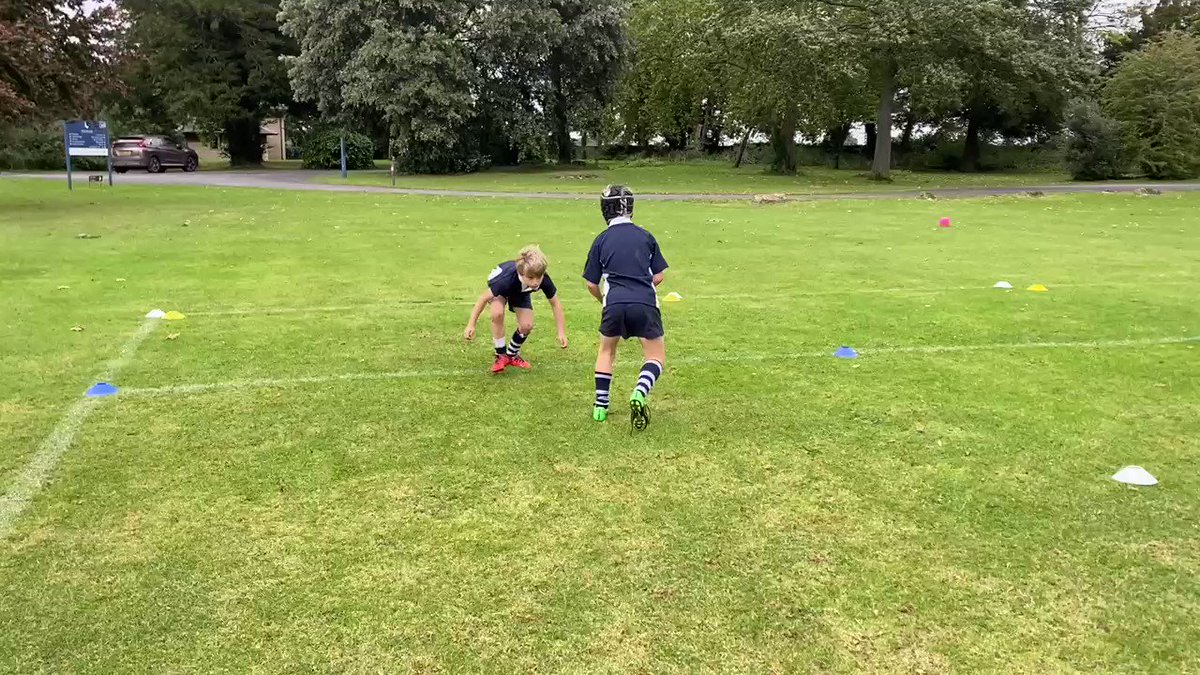 The Year 4 boys enjoying their 15 minutes of contact, during their afternoon rugby session
