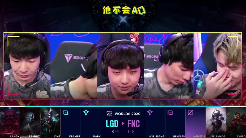 Translation of LGD's pick-ban convo vs FNC  #LGDwin   xiye: They won't play AD Syndra, right?  Kramer: Surely not.  Mark: If they play AD Syndra, we go with AD Ekko! Kramer, can you play Ekko? If enemy plays AD Syndra, you play Ekko, okay? 😛 Kramer: Do you want to lose, bro? 🤪 https://t.co/GtQ0dlvaiZ.