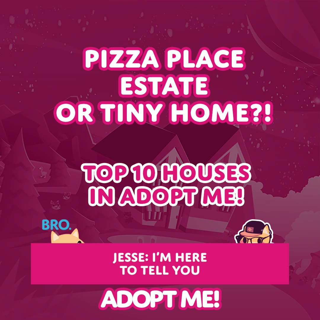 Adopt Me On Twitter Can You Guess The 10 Most Popular Houses In Adopt Me Gemma And Dalia Give It A Try But Jesse Knows Real The Answers Watch The Video