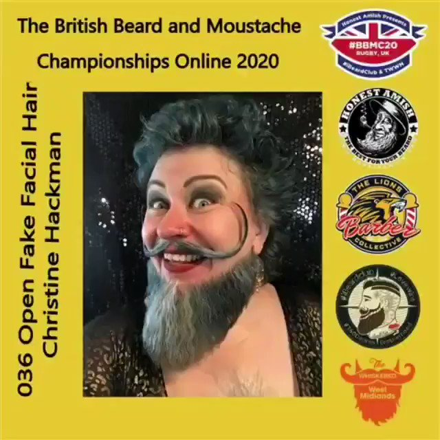 Image for the Tweet beginning: The British Beard and Moustache