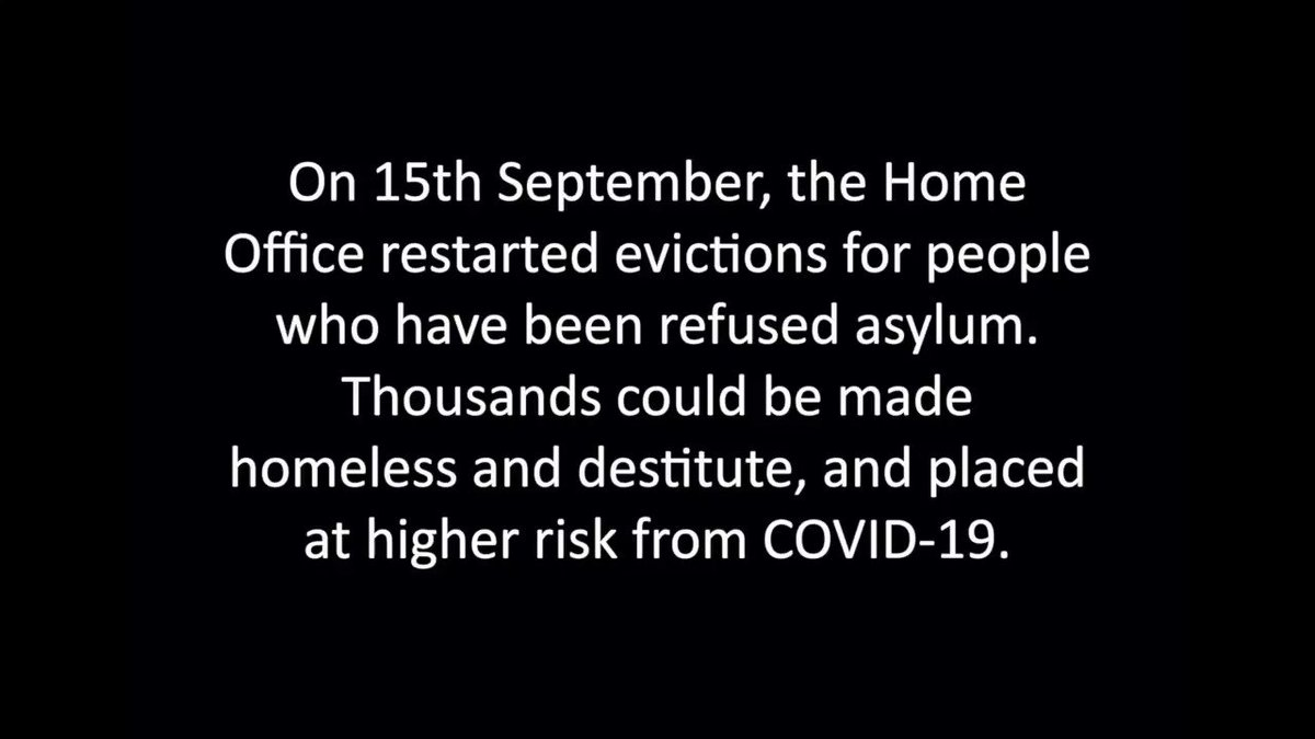 Housing is a right and no one should be homeless during a pandemic.   Use the link in our bio and write to your MP and demand we #StopAsylumEvictions now.  #SistersNotStrangers