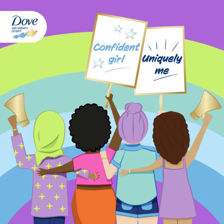 We're celebrating #InternationalDayOfTheGirl! 🙌 🌍 No girl should be held back from reaching her full potential, so we're working to build self-esteem & confidence in young people through the #DoveSelfEsteemProject. Click for free self-esteem resources: