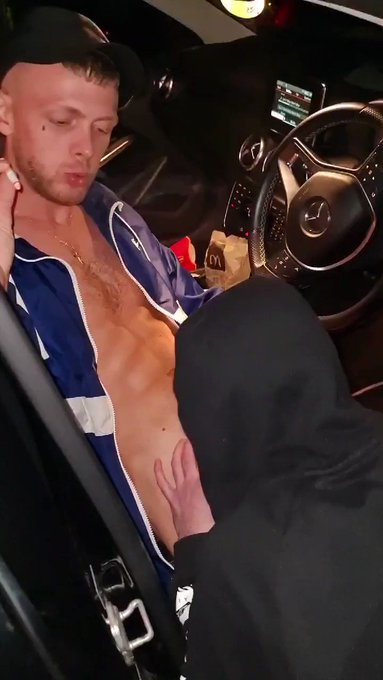 Sucking the 🧢ScallyKing🧢 Dick in his Merc like a good Slut!😈😈 Comment what you'd smoke first?🚬 🍆💦💦 #chav