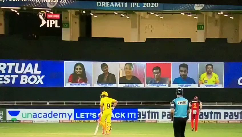 Thank you #dream11 for giving me this opportunity to be part of #virtualguestbox.Feels good to connect with my favourite IPL players Special thanks to #mithunsir @peeyushsharmaa @cricketgeekhere #CSKvRCB #Dream11IPL #YahanSabSameHai #YeApnaGameHai #RCBvCSK #IPL2020 @Dream11
