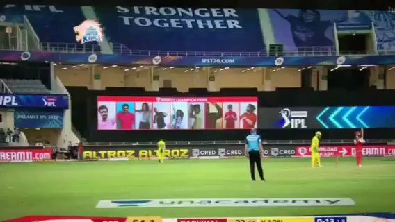 Thank you #Dream11IPL  for giving me this opportunity to be part Of #CSKvsRCB Match. Thanks to #mithunsir & @Dream11 For giving this wonderfull opportunity💝😎🙏 @peeyushsharmaa @modelmad #YahanSabSameHai #YeApnaGameHai