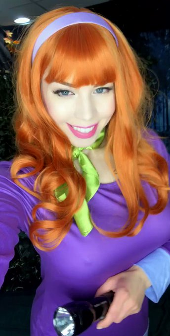 Finally am cosplaying as Daphne Blake after years of requests! 😜   This saucy set & vid are coming to