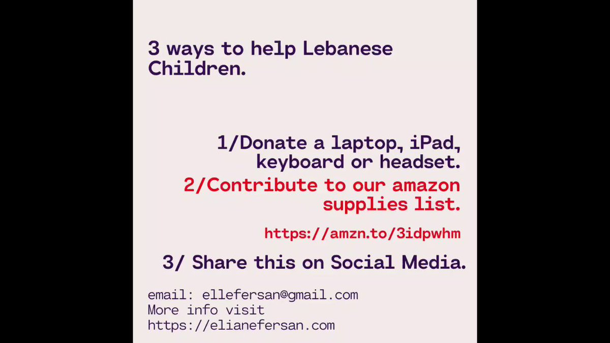 Help a child get access to education by donating your old laptop or iPad.  Or, purchase 1 item from our shopping list of supplies and parts needed! Items listed by order of need:  Venmo @Eliane-Fersan  plz share or #retweet this post. ❤️ #donate #COVID19