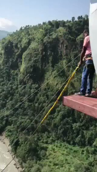 World highest swing tested by Department of Tourism Engineer himself. #PARBAT #KUSHMA #INSPECTION TEAM FROM DOT. https://t.co/l9BaaeXuMq