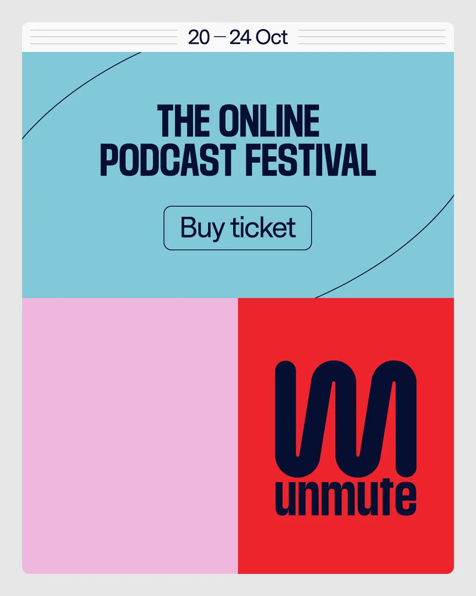 💫One week to go!💫 Podcast live-streams of… 👉@nobodypanicpod 👉@thefrothpodcast 👉@blackgalslivin 👉The Adam Buxton Podcast 👉@Rubberbandits 👉@CuddleClubPod 👉@OffMenuOfficial 👉@hellobuglers 👉@brettgoldstein unmutepodcastfestival.com