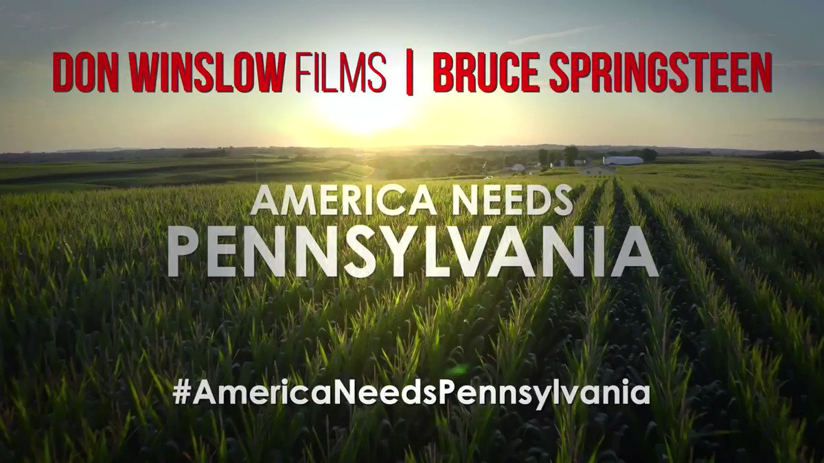 NEW: #AmericaNeedsPennsylvania w/ Bruce @springsteen !    Donald Trump arrives in Pennsylvania later today.  We need more than **1 MILLION VIEWS** before he lands.  Please RETWEET and QUOTE RETWEET.  !!! TURN VOLUME UP LOUD !!!