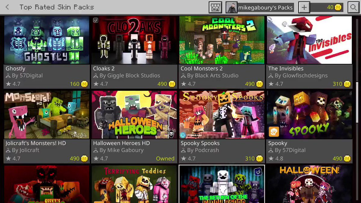 Anniversary update adds 4 new skins to my Halloween Heroes @Minecraft skin pack! -Vamp -Mad Scientist -Frankie -Witch Check it out here: minecraft.net/en-us/pdp?id=9…