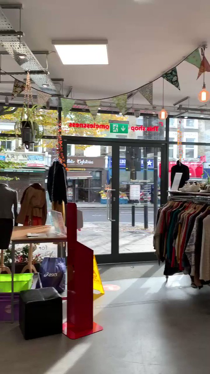 A behind-the-scenes, before we open, sneaky peek at our Shops from @crisis_uk Archway store this morning - full of Autumnal delights