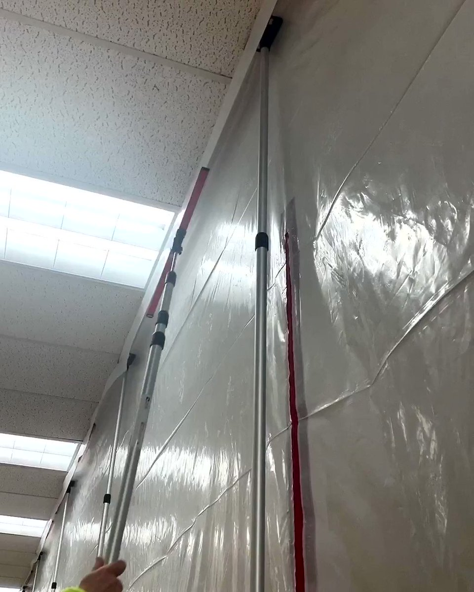 Image for the Tweet beginning: ZipWall® MagStrips™ are the quickest