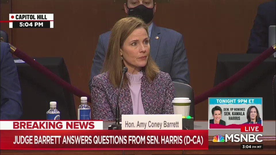Amy Coney Barrett Refuses To Tell Kamala Harris If She Thinks Climate Change Is Happening Us News The Guardian