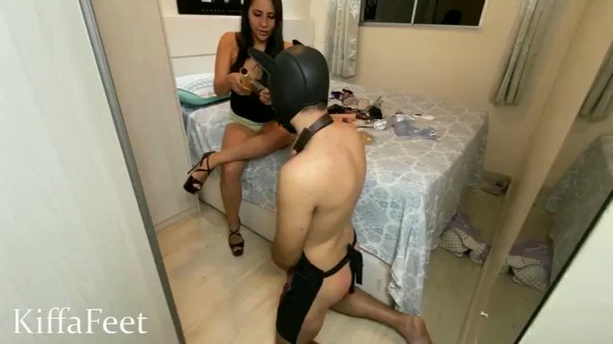 #New #FOOTDOMINATION #Clip Available! Goddess Kiffa PART 2 New slave training with foot domination and