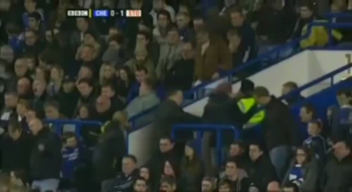 "On this day in 2009:  - Frank Lampard's 400th game. - 88th minute. - 1-0 down. - Fans leaving the stadium. - Stoke supporters singing ""sacked in the morning"" to Scolari.  The rest of the video is simply magical."