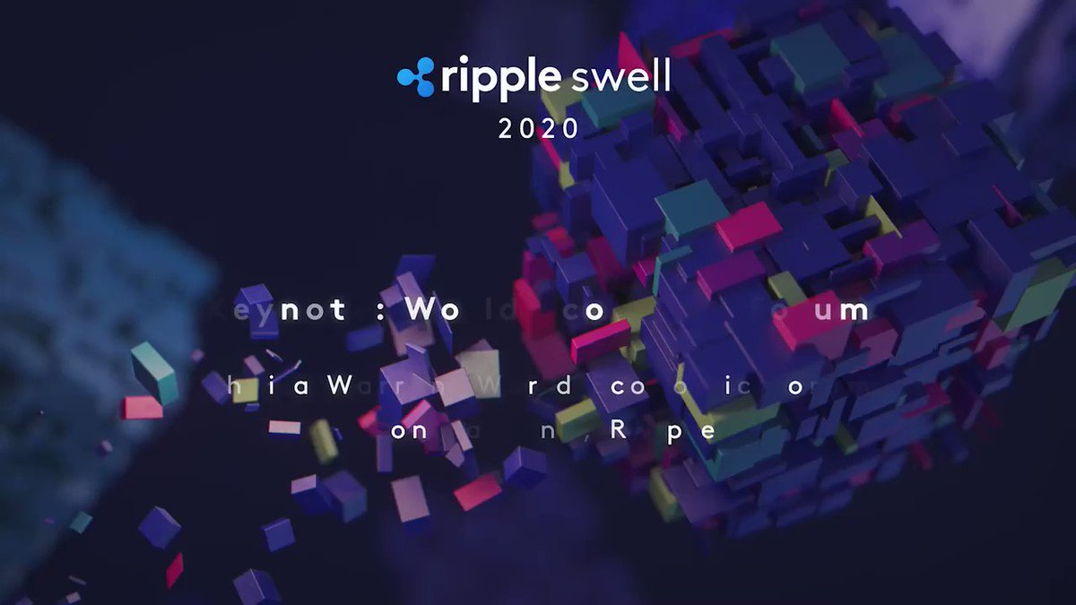 Image for the Tweet beginning: At #RippleSwell day two, @wef's