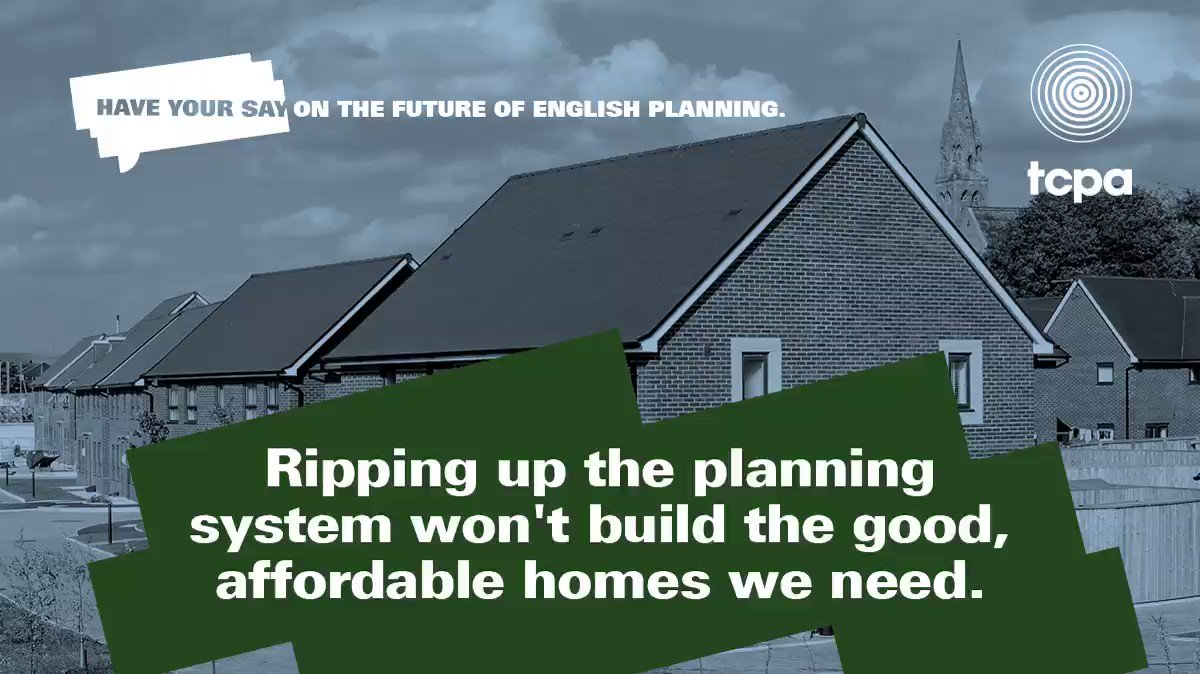 Image for the Tweet beginning: Ripping up the #planning system