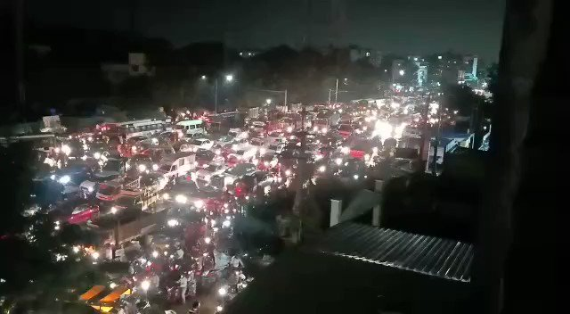 Traffic jam caused by downpour in #Hyderabad @ndtv @ndtvindia