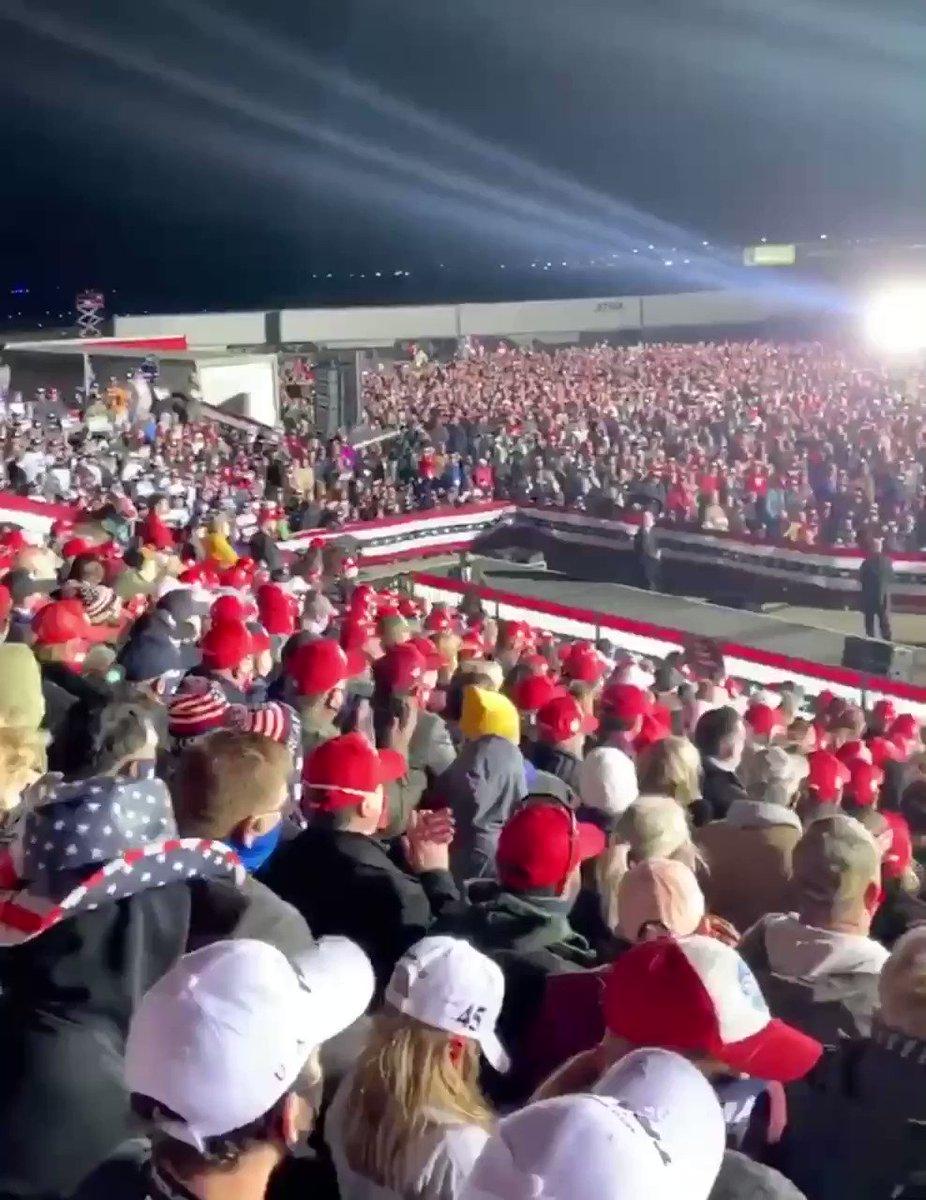 POTUS still going in Janesville, Wisconsin!! #MAGA🇺🇸🦅 🌐Vote.DonaldJTrump.com