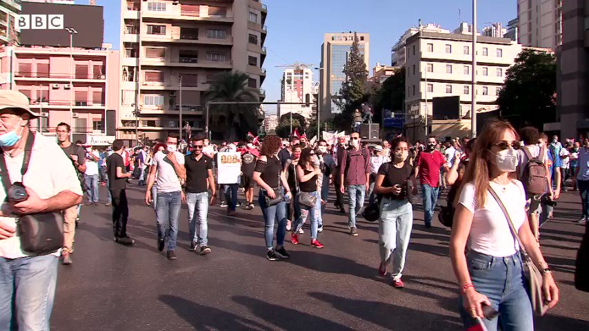 One year since the protests began in #Lebanon. One year of rising and fading hopes. Our story @BBCWorld