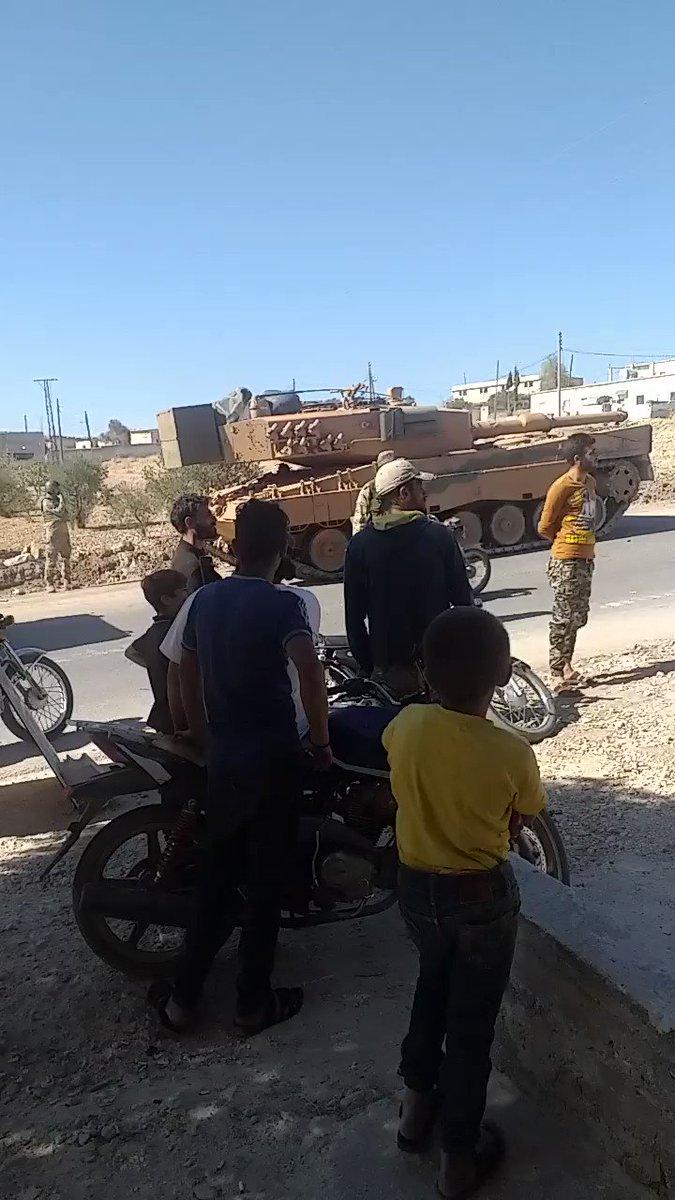 Turkish forces #TSK enter Joseph town in Jabal Al-Zawiya in #Idlib countryside