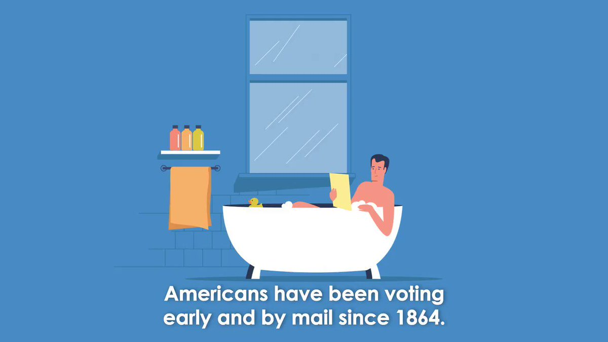 Image for the Tweet beginning: Americans have been voting early