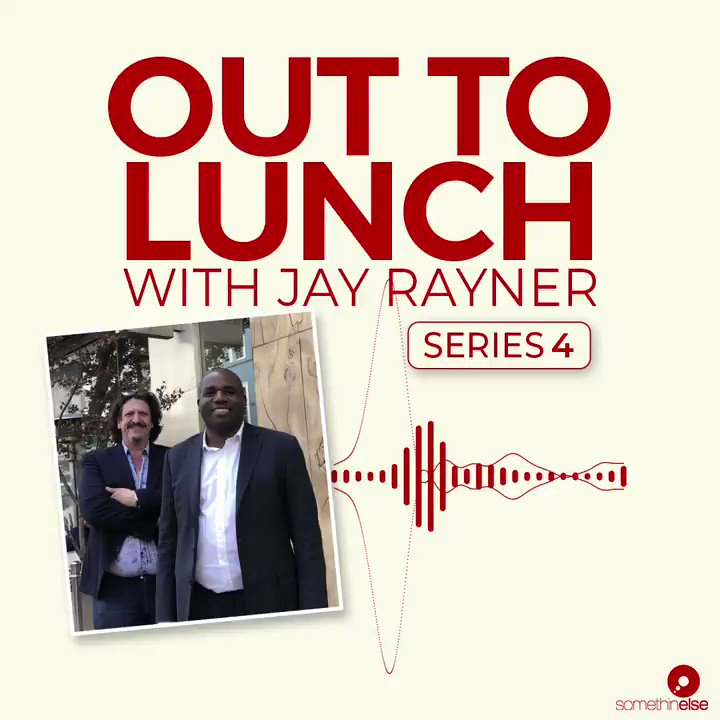 """Earlier this week I talked to about tribalism, the state of politics and stereotypes I and other black men face with @jayrayner1 on his excellent podcast """"Out To Lunch """""""