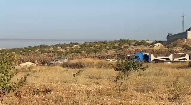 Turkish forces evacuate the observation point in Morek city #Syria #Idlib