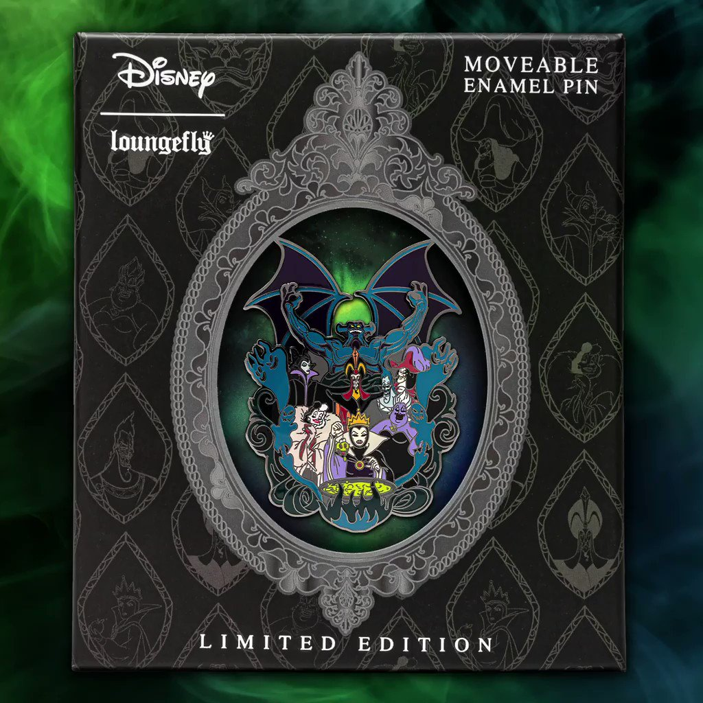 The limited edition Villains pin has officially dropped! Head to bit.ly/35ne52q to get yours today—while supplies last! 🖤 #Loungefly #Disney #PinCollector