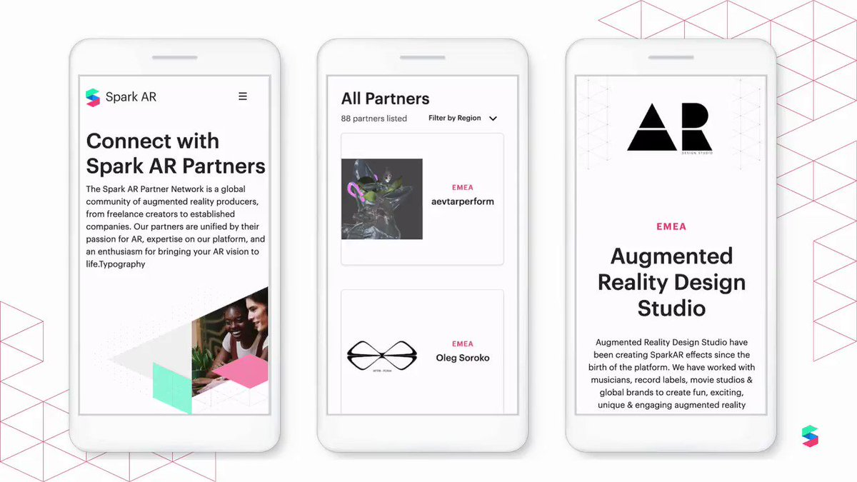 Check out the new and improved Spark AR Partner Network, a global program designed to connect brands and creators successfully to build #SparkAR experiences. Learn more about the program here: