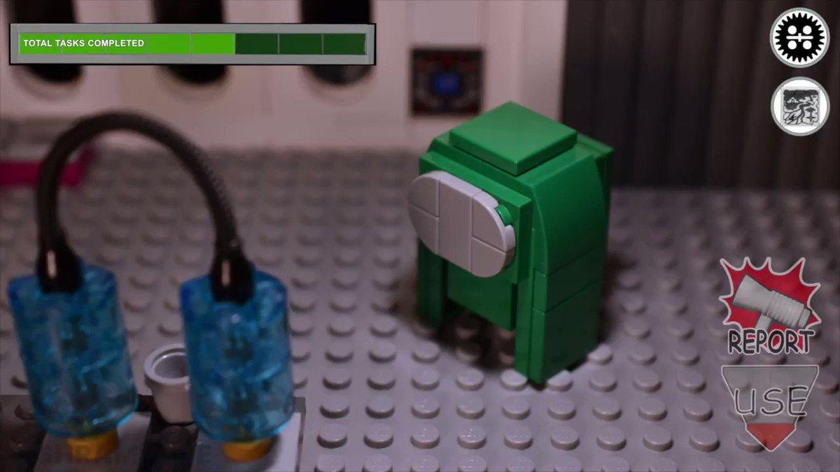Simon Says in a nutshell #AmongUs #LEGO