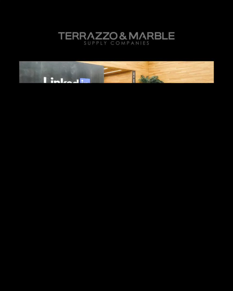 Image for the Tweet beginning: #terrazzotuesday project featuring the @linkedin