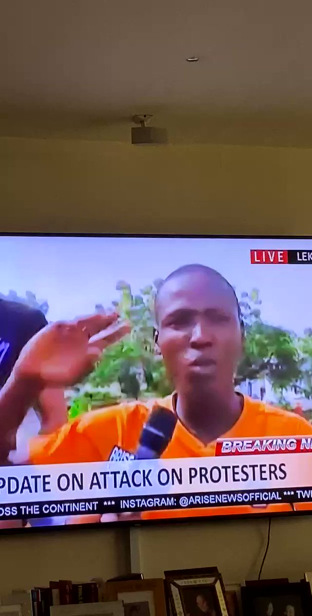 A Protester that escaped last night massacre is explaining what happened on Arise TV. We can let this go viral !! #EndSARS #LekkiMassacre   https://t.co/XPk690zDSn