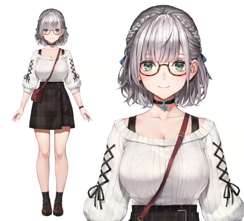 ホロライブ3期生 白銀ノエルちゃんの新衣装のLive2Dモデルを制作させていただきました!清楚文学少女感がとても良いです!イラストレーター:わたお さん(@ wait_ar)#白銀ノエル新衣装#Live2D