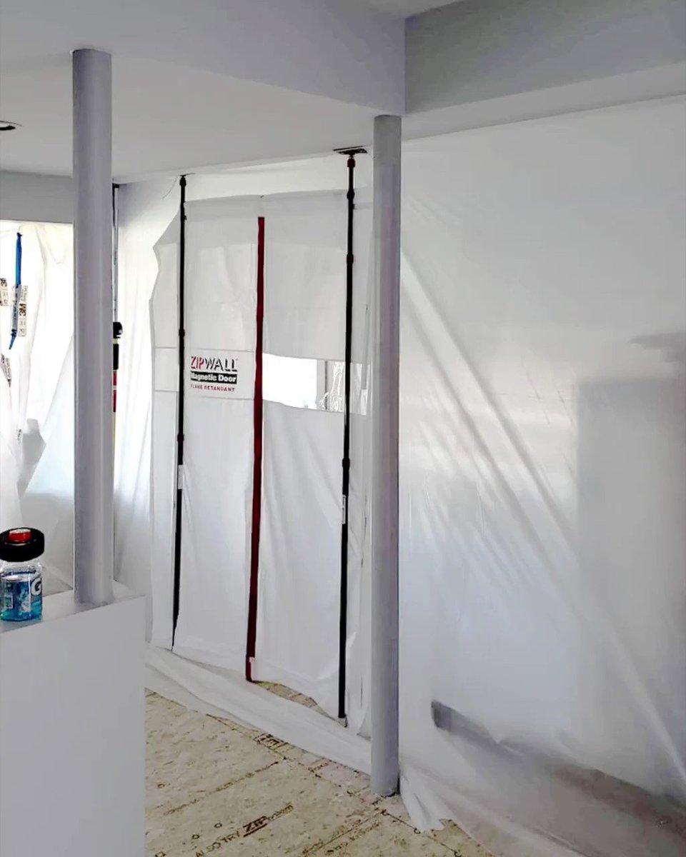 Image for the Tweet beginning: The self-closing ZipWall Magnetic Door