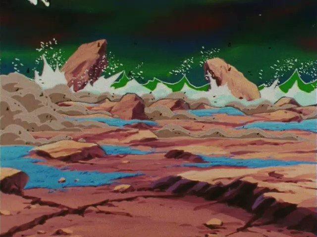 SSJ Goku (悟空) & Freeza (フリーザ).