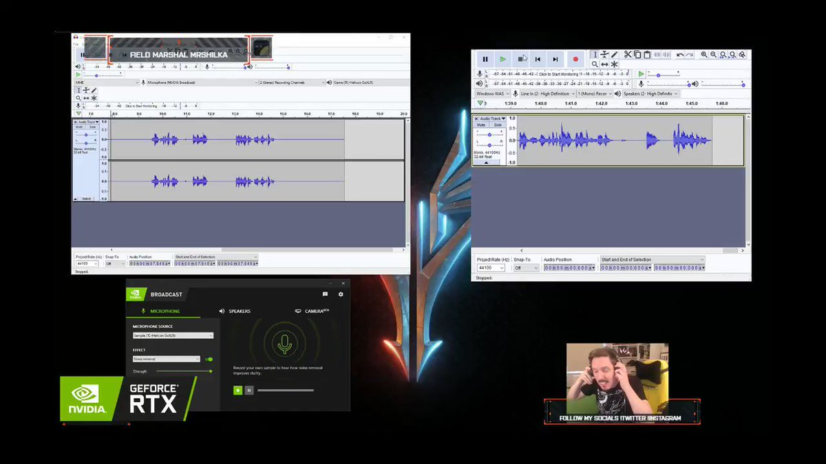 Want the greenscreen effect without the greenscreen? The @NVIDIAGeForceUK Broadcast App does just that (and its free btw): bit.ly/SacrielCast #ad