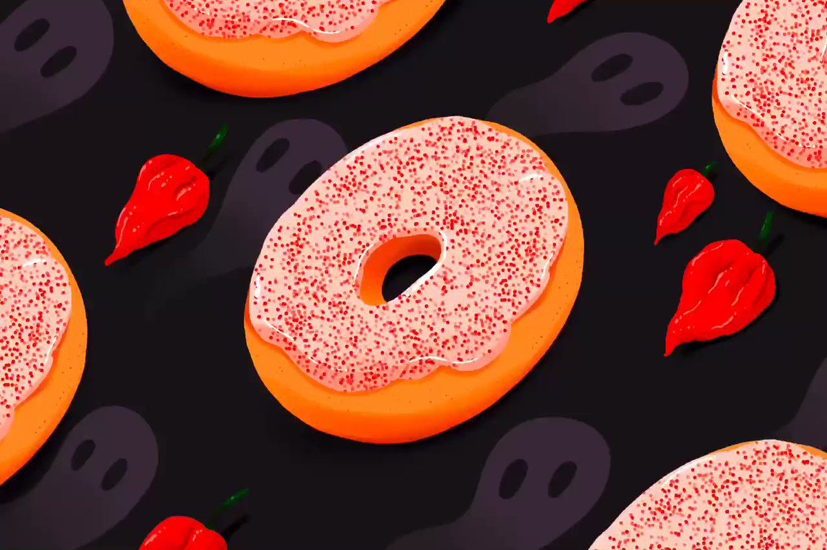 Time-lapse of the Ghost Pepper Donut! @joshgondelman covered the @dunkindonuts creation on the @ringer today~